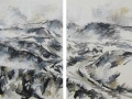 Hron (river) valley 1, 2014 (Diptych)
